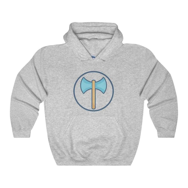 Labrys Double Sided Axe Ancient Greek Symbol Unisex Heavy Blend Hooded Sweatshirt - Sport Grey / S - Hoodie