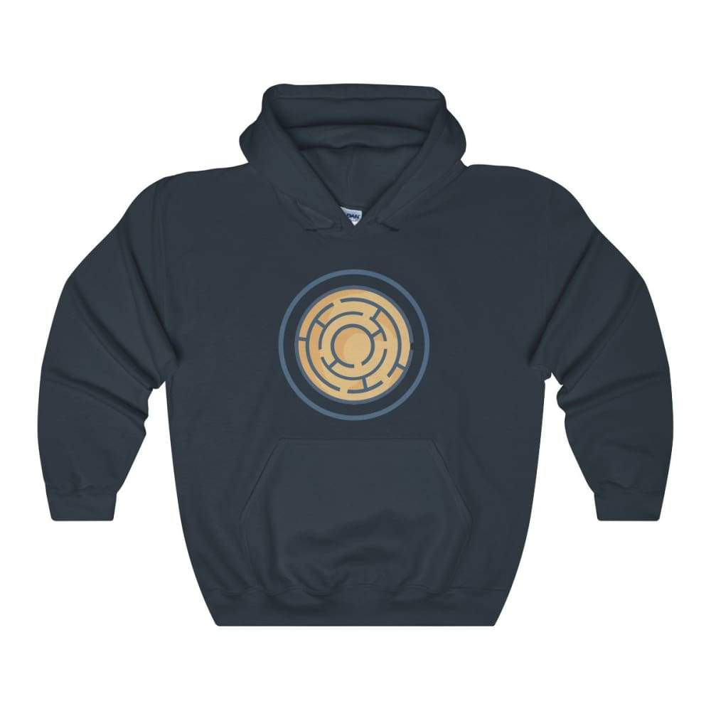 Labyrinth Maze Ancient Greek Symbol Unisex Heavy Blend Hooded Sweatshirt - Navy / L - Hoodie