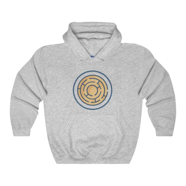 Labyrinth Maze Ancient Greek Symbol Unisex Heavy Blend Hooded Sweatshirt - Sport Grey / S - Hoodie