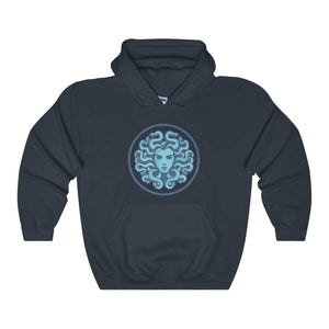 Medusa Gorgon Ancient Greek Symbol Unisex Heavy Blend Hooded Sweatshirt - Navy / L - Hoodie