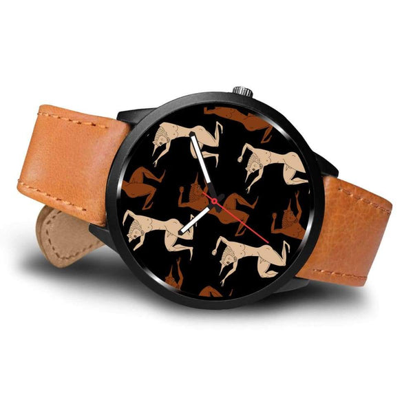 Minotaur Ancient Greek Beast Repeated Pattern Custom-Designed Wrist Watch - Watch