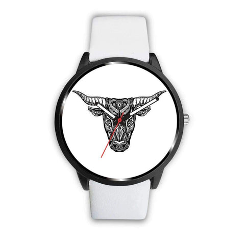 Minotaur Ancient Greek Myth Design Custom-Designed Wrist Watch - Mens 40Mm / White - Watch