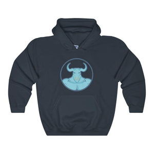 Minotaur Ancient Greek Myth Legend Symbol Unisex Heavy Blend Hooded Sweatshirt - Navy / L - Hoodie