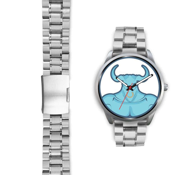 Minotaur Greek Legend Myth Symbol Custom-Designed Wrist Watch - Silver Watch