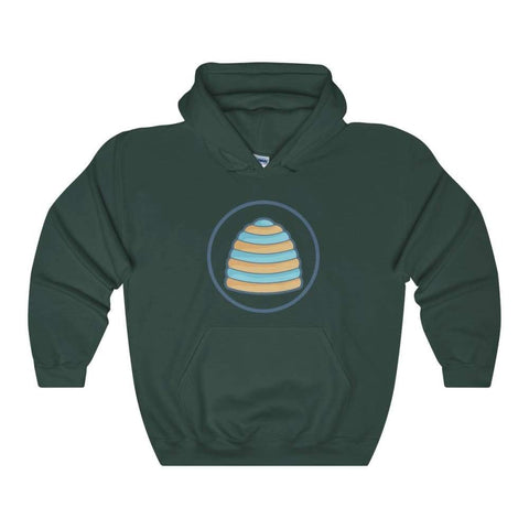 Omphalos Ancient Greek Symbol Unisex Heavy Blend Hooded Sweatshirt - Forest Green / L - Hoodie