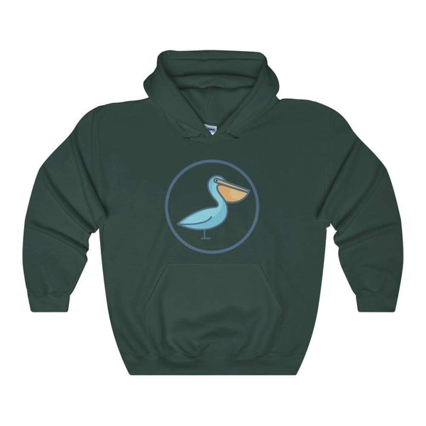 Pelican Christian Symbol Unisex Heavy Blend Hooded Sweatshirt - Forest Green / S - Hoodie