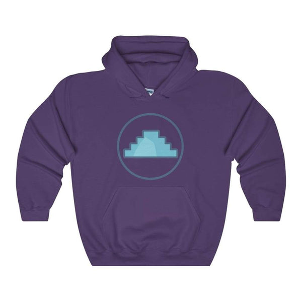 Primordial Hill Ancient Egyptian Symbol Unisex Heavy Blend Hooded Sweatshirt - Purple / S - Hoodie