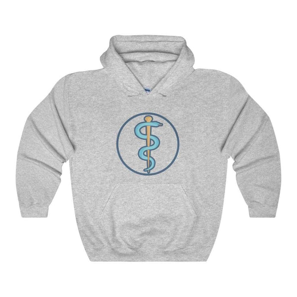 Rod Of Asclepius Ancient Greek Symbol Unisex Heavy Blend Hooded Sweatshirt - Sport Grey / S - Hoodie