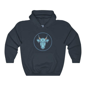 Sacred Hindu Cow Symbol Unisex Heavy Blend Hooded Sweatshirt - Navy / L - Hoodie