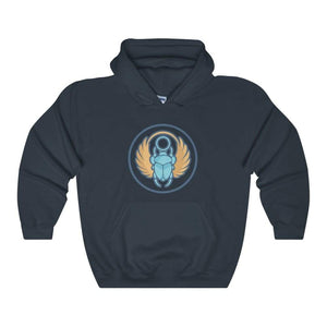 Scarab Beetle Ancient Egyptian Symbol Unisex Heavy Blend Hooded Sweatshirt - Navy / L - Hoodie