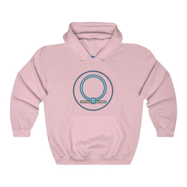 Shen Shenu Ring Ancient Egyptian Symbol Unisex Heavy Blend Hooded Sweatshirt - Light Pink / S - Hoodie