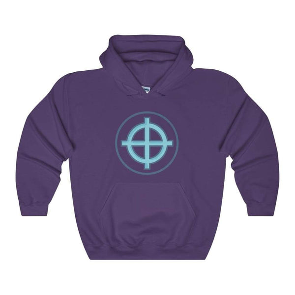 Solar Cross Christian Wiccan Symbol Unisex Heavy Blend Hooded Sweatshirt - Purple / S - Hoodie