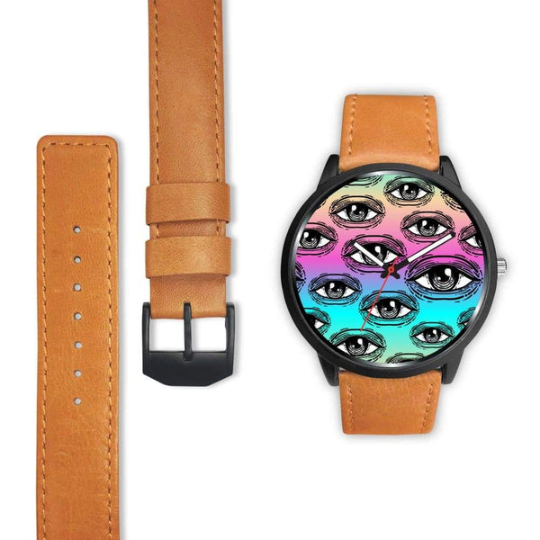 Spiritual All Seeing Eye Buddhist Ancient Egyptian Eye Of Horus Style Custom-Designed Wrist Watch - Watch