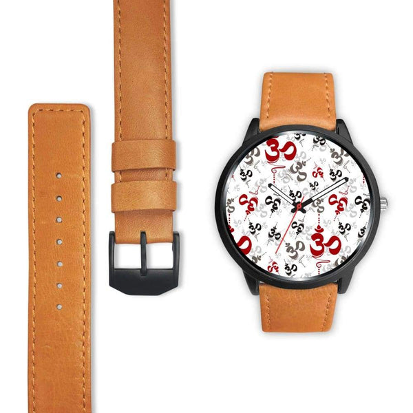 Spiritual Buddhist Om Pattern Yoga Custom-Designed Wrist Watch - Watch