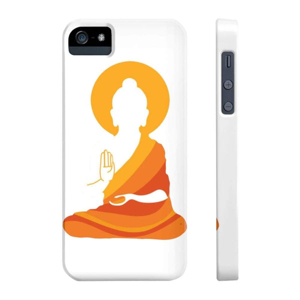 Spiritual Colorful Buddha With Aura Cell Phone Slim Case - Iphone 5/5S/5Se Slim - Phone Case