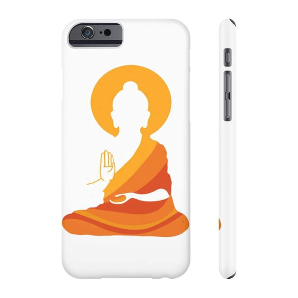 Spiritual Colorful Buddha With Aura Cell Phone Slim Case - Iphone 6/6S Slim - Phone Case