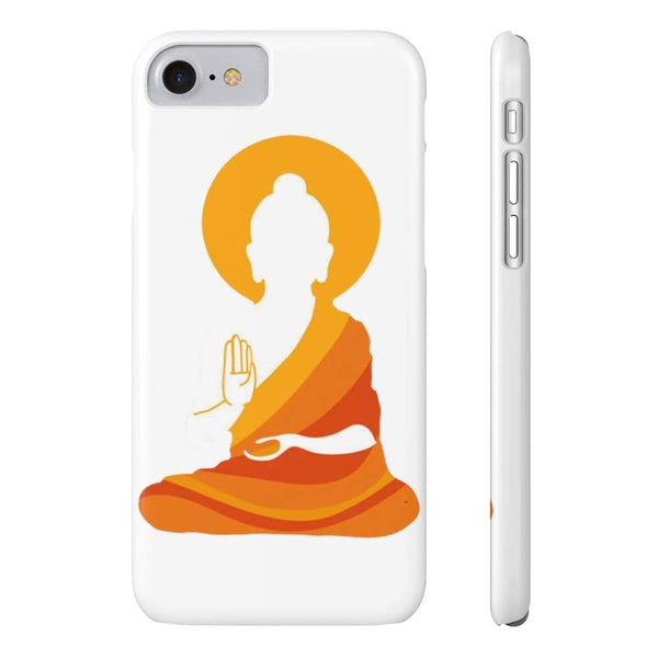 Spiritual Colorful Buddha With Aura Cell Phone Slim Case - Iphone 7 Iphone 8 Slim - Phone Case