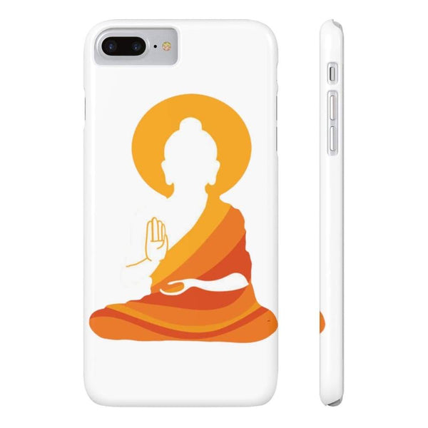 Spiritual Colorful Buddha With Aura Cell Phone Slim Case - Iphone 7 Plus Iphone 8 Plus Slim - Phone Case