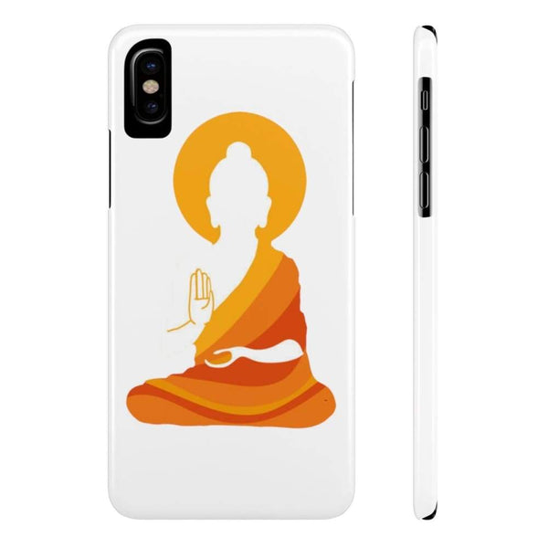 Spiritual Colorful Buddha With Aura Cell Phone Slim Case - Iphone X Slim - Phone Case