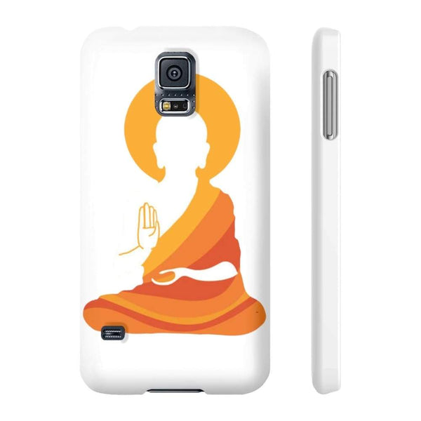 Spiritual Colorful Buddha With Aura Cell Phone Slim Case - Samsung Galaxy S5 Slim - Phone Case