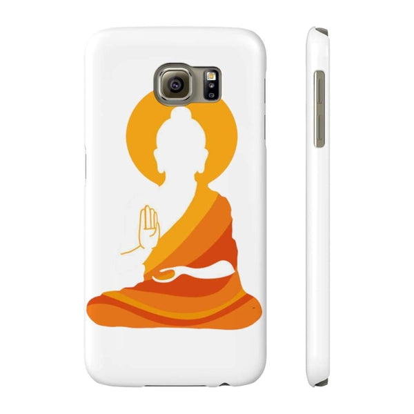 Spiritual Colorful Buddha With Aura Cell Phone Slim Case - Samsung Galaxy S6 Slim - Phone Case