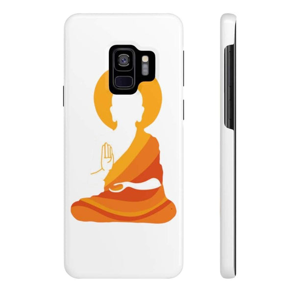 Spiritual Colorful Buddha With Aura Cell Phone Slim Case - Samsung Galaxy S9 Slim - Phone Case