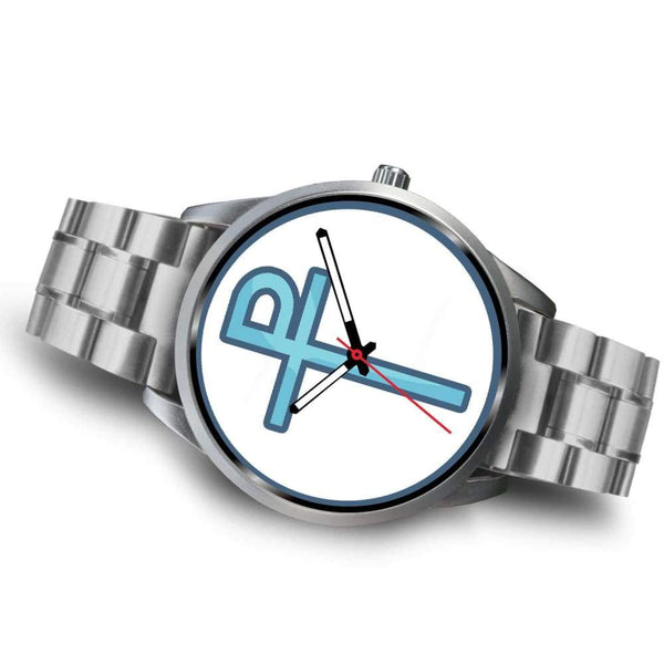 Staurogram Christian Symbol Custom-Designed Wrist Watch - Silver Watch
