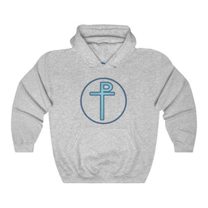 Staurogram Christian Symbol Unisex Heavy Blend Hooded Sweatshirt - Sport Grey / L - Hoodie