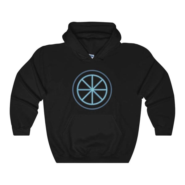 Sun Wheel Pagan Wiccan Symbol Unisex Heavy Blend Hooded Sweatshirt - Black / S - Hoodie