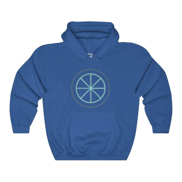 Sun Wheel Pagan Wiccan Symbol Unisex Heavy Blend Hooded Sweatshirt - Royal / S - Hoodie