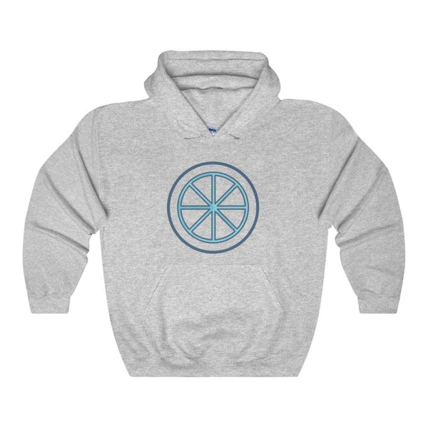 Sun Wheel Pagan Wiccan Symbol Unisex Heavy Blend Hooded Sweatshirt - Sport Grey / S - Hoodie