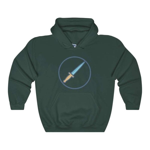 The Athame Wiccan Dagger Symbol Unisex Heavy Blend Hooded Sweatshirt - Forest Green / S - Hoodie