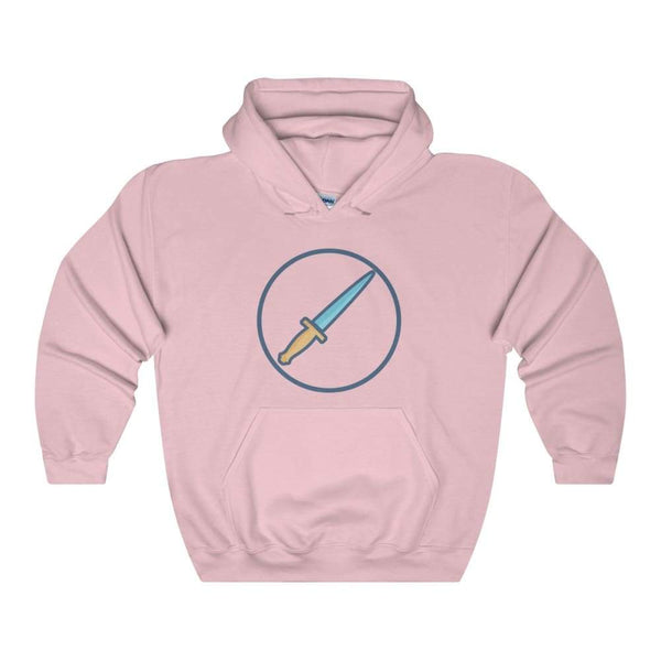 The Athame Wiccan Dagger Symbol Unisex Heavy Blend Hooded Sweatshirt - Light Pink / S - Hoodie