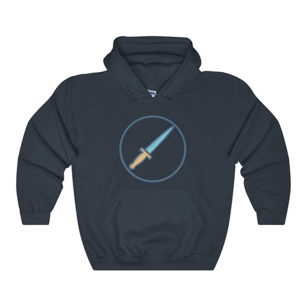 The Athame Wiccan Dagger Symbol Unisex Heavy Blend Hooded Sweatshirt - Navy / L - Hoodie