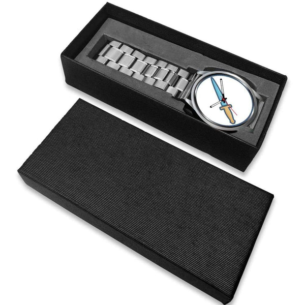 The Athame Wiccan Symbol Custom-Designed Wrist Watch - Silver Watch