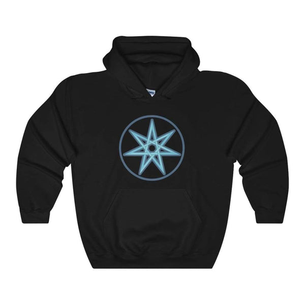 The Elven Star Pagan Wiccan Symbol Unisex Heavy Blend Hooded Sweatshirt - Black / S - Hoodie