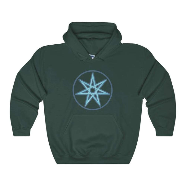 The Elven Star Pagan Wiccan Symbol Unisex Heavy Blend Hooded Sweatshirt - Forest Green / S - Hoodie