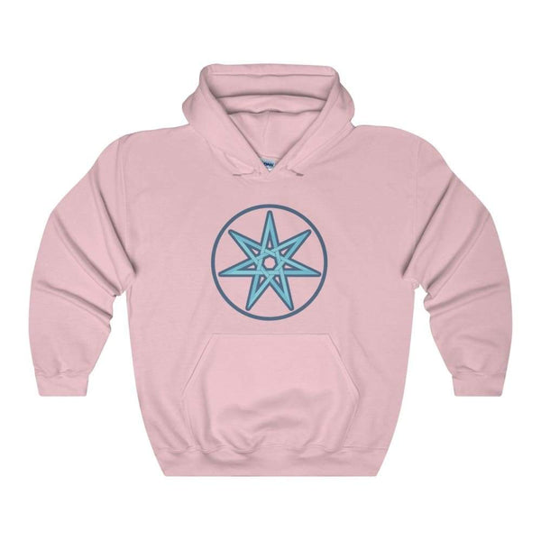 The Elven Star Pagan Wiccan Symbol Unisex Heavy Blend Hooded Sweatshirt - Light Pink / S - Hoodie