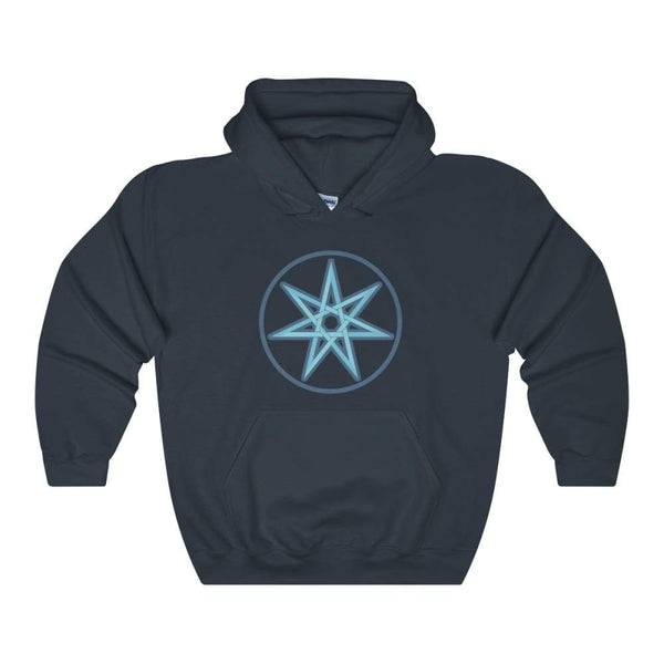 The Elven Star Pagan Wiccan Symbol Unisex Heavy Blend Hooded Sweatshirt - Navy / S - Hoodie