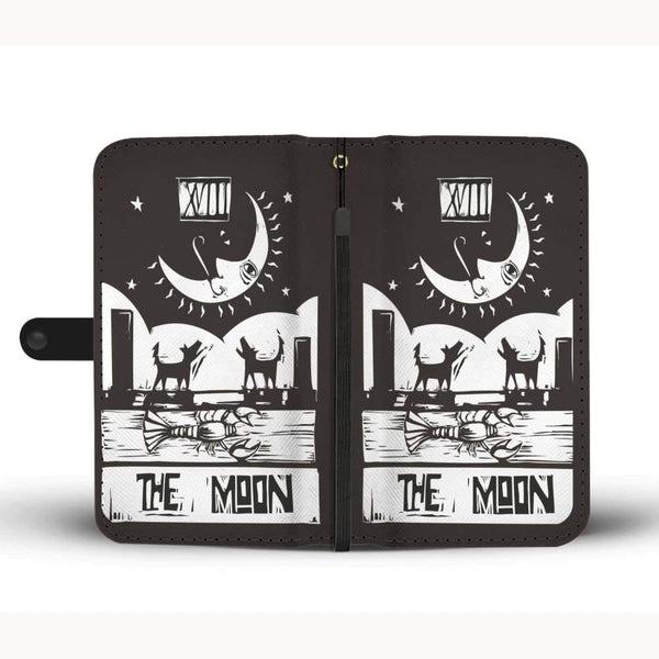 The Moon Tarot Card Phone Case Wallet - Wallet Case
