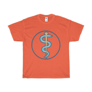 Unisex Heavy Cotton Tee Rod Of Alsclepius Ancient Greek Symbol T-Shirt - Orange / L - T-Shirt