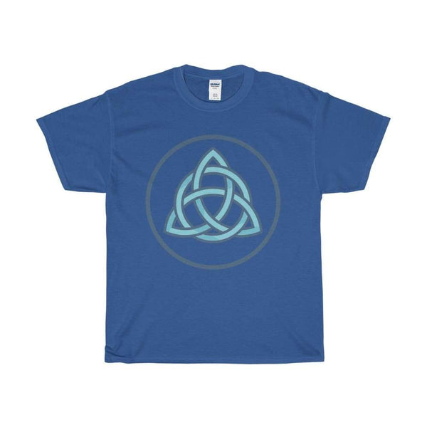 Unisex Heavy Cotton Tee Triquetra Spiritual Symbol T-Shirt - Royal / S - T-Shirt