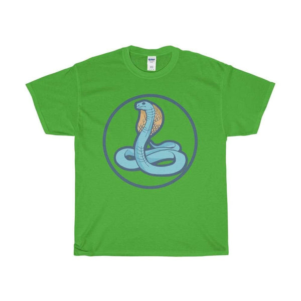 Unisex Heavy Cotton Tee Uraeus Ancient Egyptian Cobra Symbol T-Shirt - Electric Green / S - T-Shirt