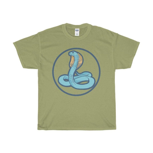 Unisex Heavy Cotton Tee Uraeus Ancient Egyptian Cobra Symbol T-Shirt - Kiwi / S - T-Shirt