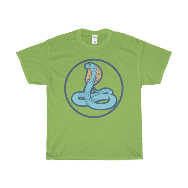 Unisex Heavy Cotton Tee Uraeus Ancient Egyptian Cobra Symbol T-Shirt - Lime / S - T-Shirt