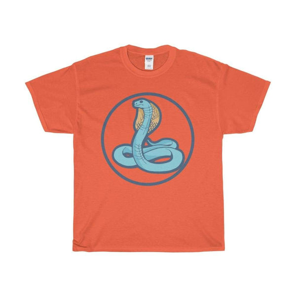 Unisex Heavy Cotton Tee Uraeus Ancient Egyptian Cobra Symbol T-Shirt - Orange / S - T-Shirt