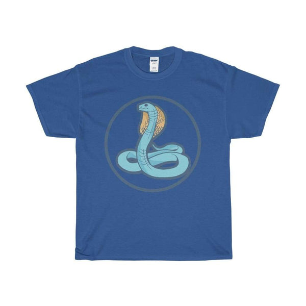 Unisex Heavy Cotton Tee Uraeus Ancient Egyptian Cobra Symbol T-Shirt - Royal / S - T-Shirt