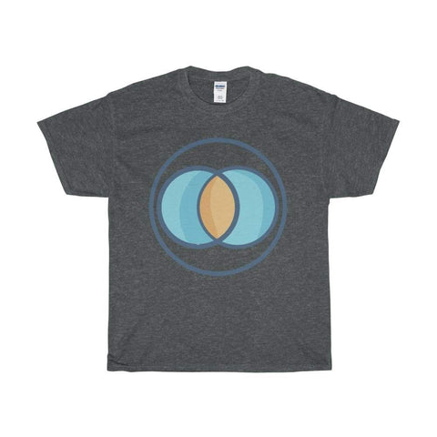 Unisex Heavy Cotton Tee Vesica Piscis Christian Symbol T-Shirt - Dark Heather / L - T-Shirt