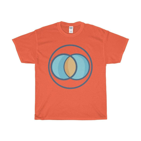 Unisex Heavy Cotton Tee Vesica Piscis Christian Symbol T-Shirt - Orange / S - T-Shirt