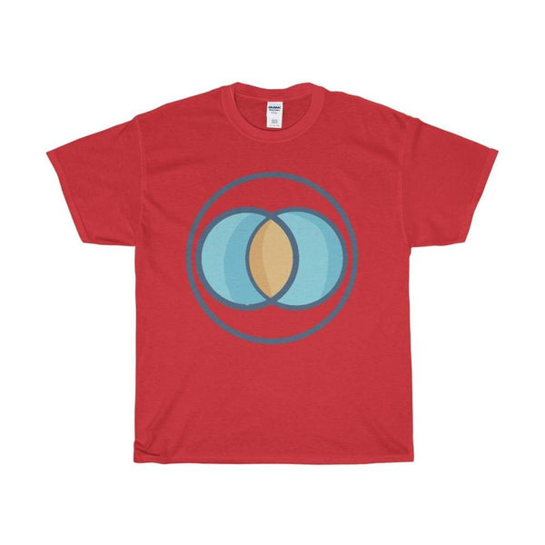 Unisex Heavy Cotton Tee Vesica Piscis Christian Symbol T-Shirt - Red / S - T-Shirt